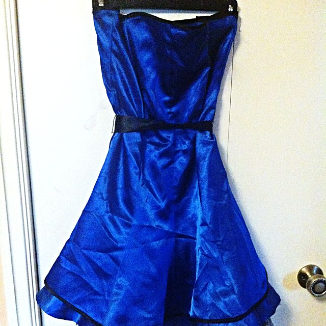 Strapless Short Blue Dress