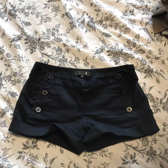 Talula High Waisted Blue Shorts