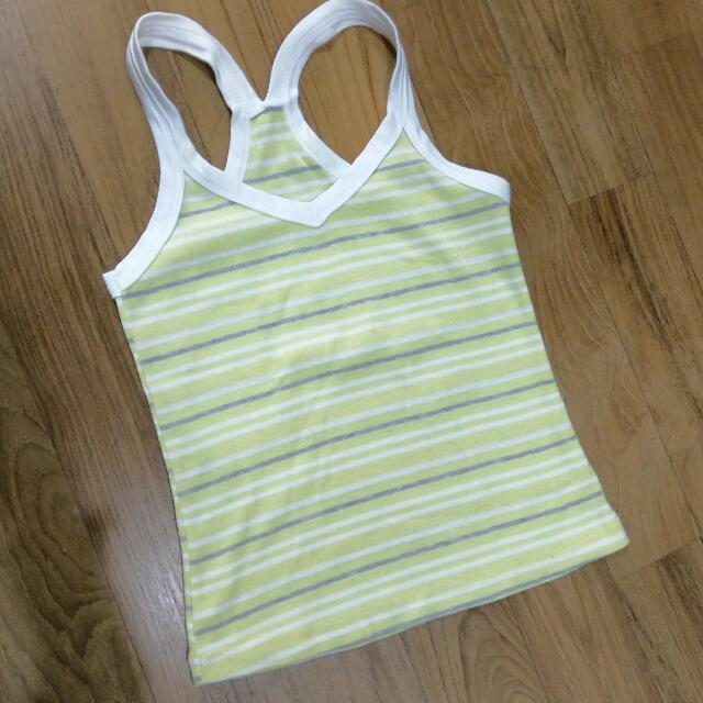 Tanktop Yellow Stripe