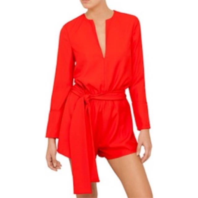 The Fifth - Red Playsuit