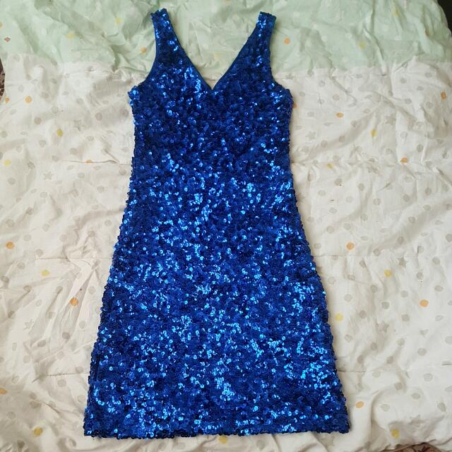 Tight Blue Outgoing Dress
