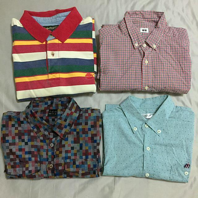 Timberland、Uniqlo 、韓製襯衫