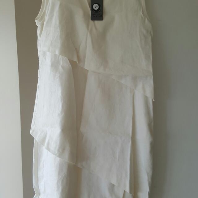 Tyler Dress Linen Off White Dress
