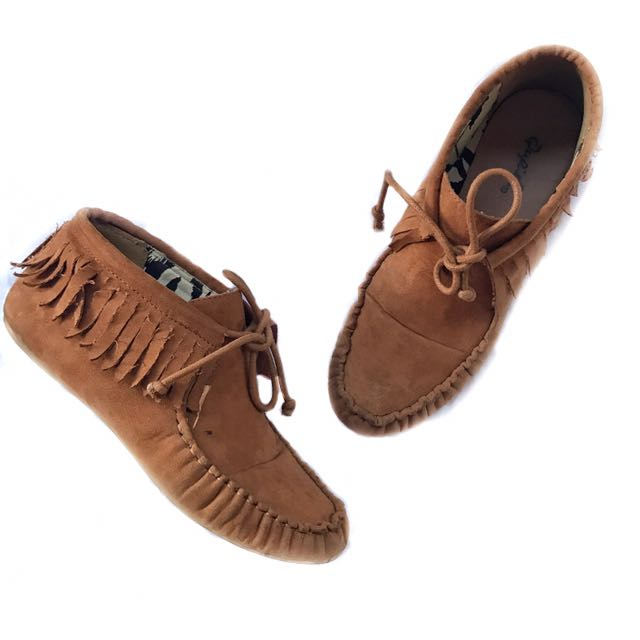 Unbranded Faux Suede Fringe Shoes