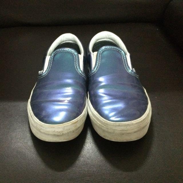 Vans金屬光漆皮便鞋