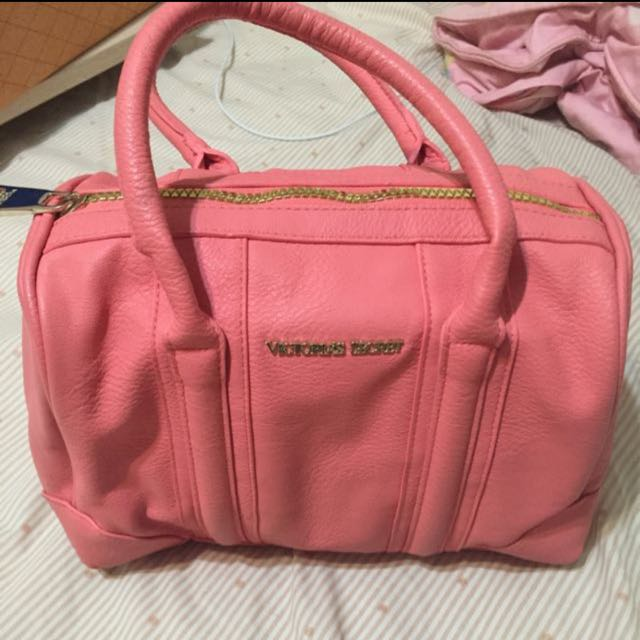 victoria's secret粉紅色包包/手提包/托特包/媽媽包/歐美/cosch/