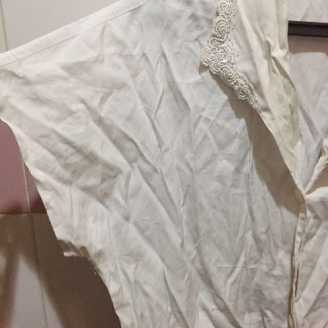 White Batwing Shirt Top