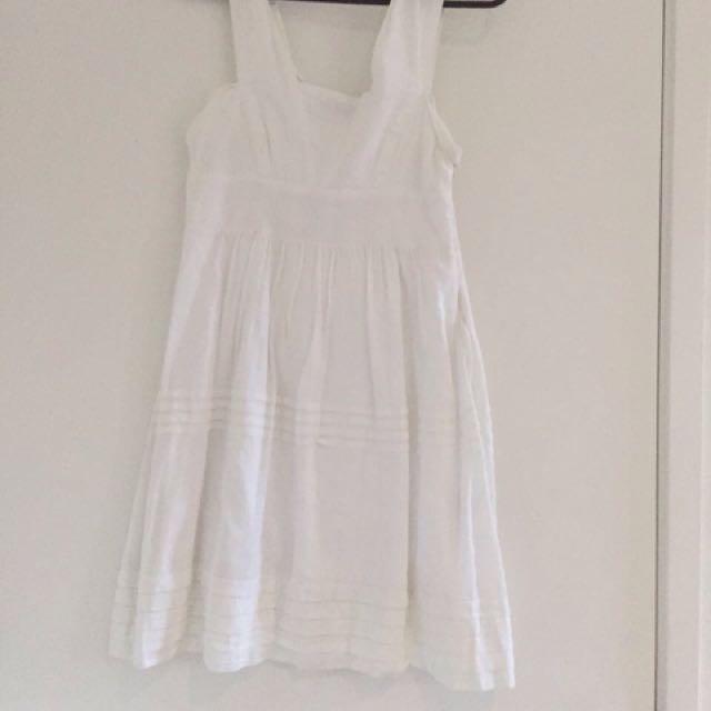 WISH White Summer Dress