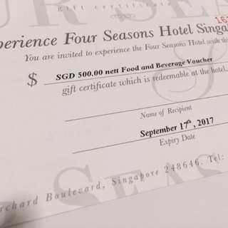 Four Seasons Dining Voucher