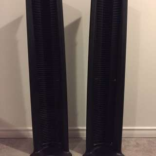 Two Black CD Towers