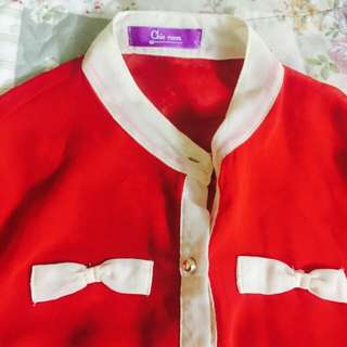 Red Tops Blouse