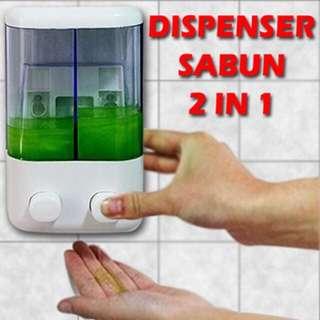 Double Dispenser Sabun Mandi Shampoo 2 In 1