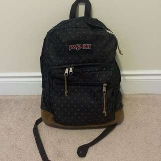 Jansport Leather Bottom Backpack