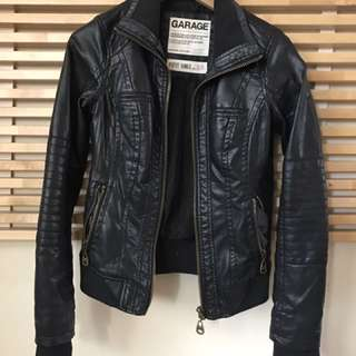 Garage Perfect Bomber Faux Leather Jacket