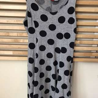 H&M Polka Dot Light Grey Dress