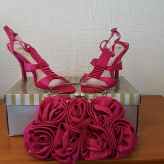 Beautiful Cerise Pink Shoes & Bag