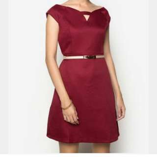 CLN MAROON DRESS