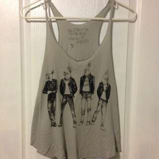 Grey Graphic Tank Top