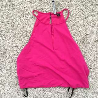 Hot Pink Forever New Crop Top Stretchy