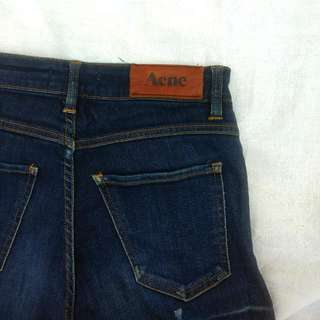 ACNE Needle Raw Blue Jeans