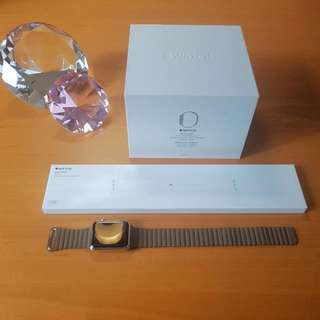 APPLE Watch | 42mm Leather Loop | Free Sports Band