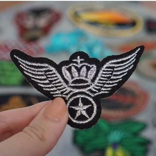 Harley Davidson mini wings patch