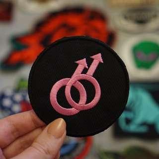 Gay pride symbol patch