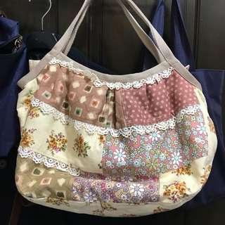 全新日本手工拼布包-媽媽包、容量大#居家生活好物