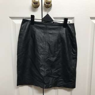 Just Female Glue Store Mini Leather Skirt XS