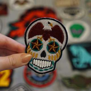 American eagle skull patch
