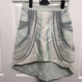 Dion Lee pattern blue skirt size 8