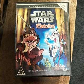 Starwars Animated Adventures Ewoks Dvd (rare)