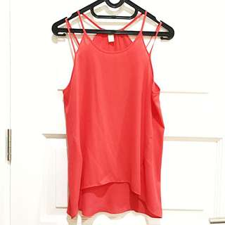 PRELOVED FOREVER21 Red Orange Tank Top