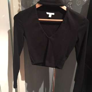 Kookai Top Black Size 1