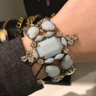 10 bells Gold Rhinestone  Bracelet