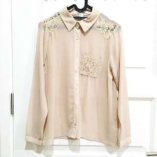 PRELOVED FOREVER21 Dusty Pink Blouse