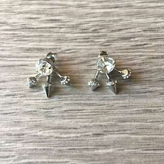 Three Point Stud Earrings