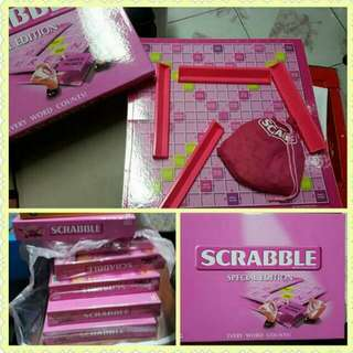 Limited Edition Pink Scrabble