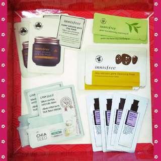 12 Korean Skincare Samples Set