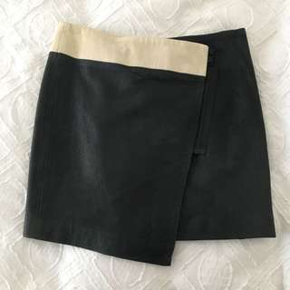 Life With Bird Leather Skirt SZ 0/6