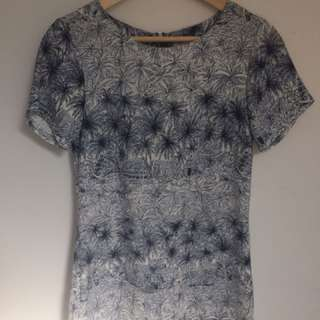 Patterned Shift Dress Size 6