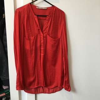 Zara Red Blouse Size XS