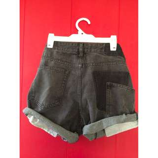 Liquor & Poker denim cut offs with stepped waist