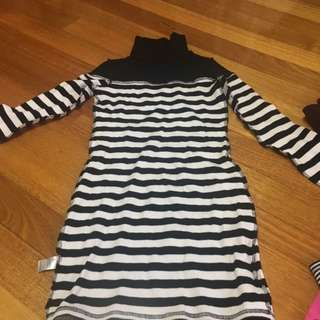 Size S 8 Stripe Dress