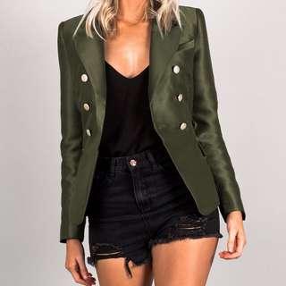 Green Military Blazer / Jacket
