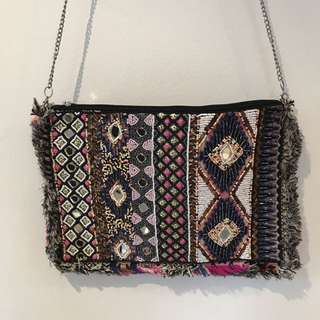 Hand Beaded Clutch Handbag