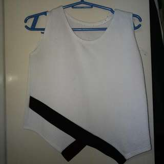 Crop Top - Black And White