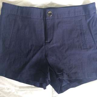 Blue Thin Denim Shorts