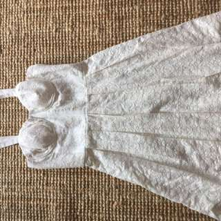 Cream Lace Summer Dress