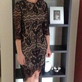Black Lace Sheer Dress